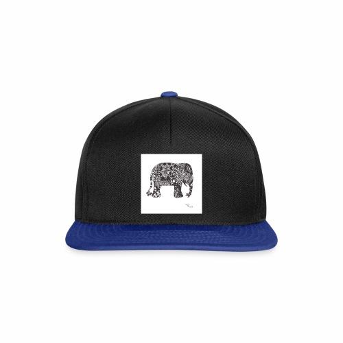 tangle-elephant print - Snapback Cap
