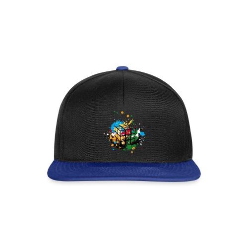 Rubik's Cube Colourful Splatters - Snapback Cap