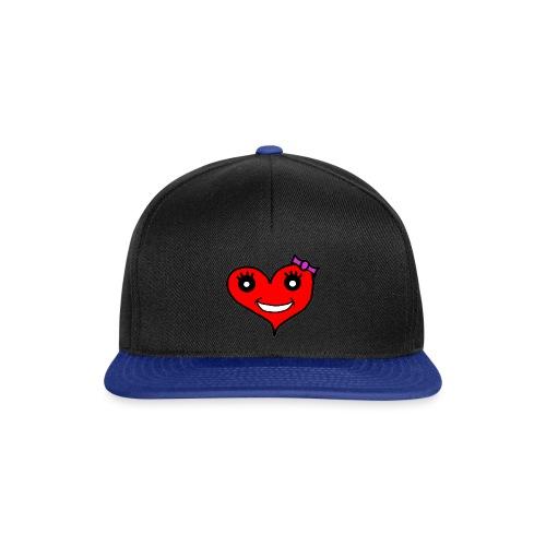 Herz Smiley Schlaufe - Snapback Cap