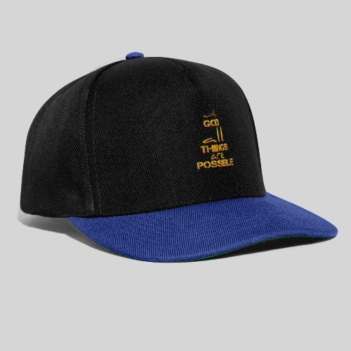 with God all things are possible - Matthäus 19,26 - Snapback Cap