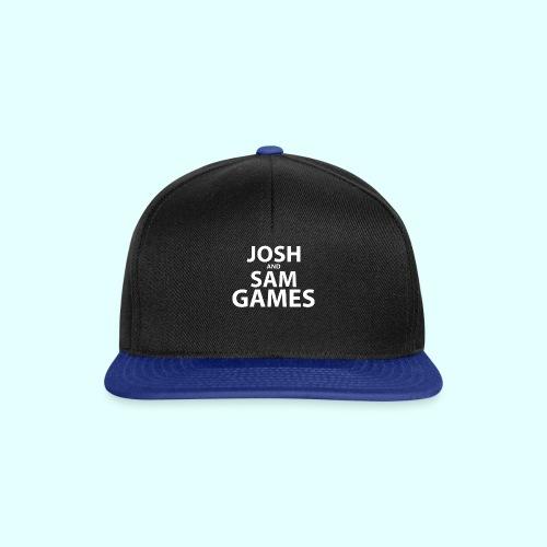 JoshandSamGames Stacked Text - Snapback Cap