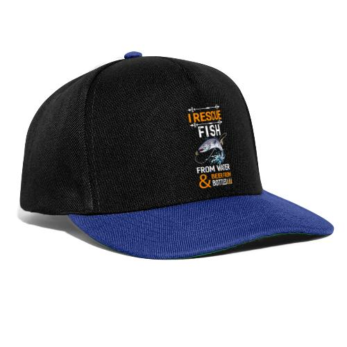 I rescue fish from water beer from bottles - Snapback Cap