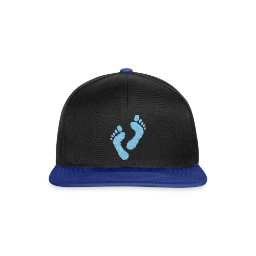 Barefoot on the Beach, Fun Summer Textiles, Gifts - Snapback Cap