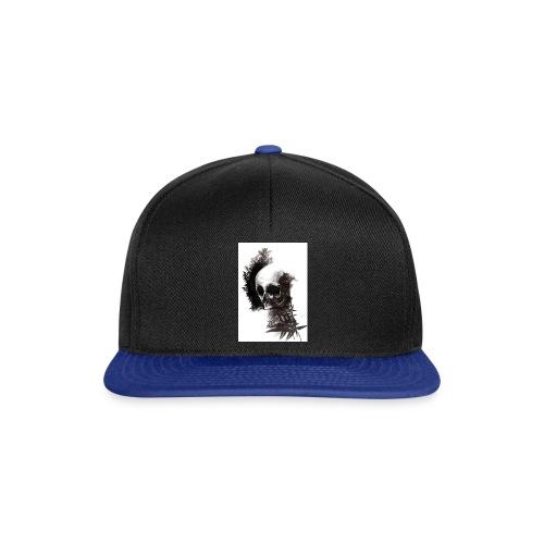 skull leaf - Snapback Cap