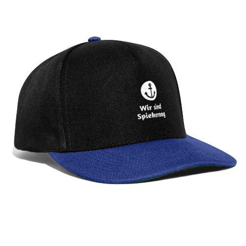 Wir sind Spiekeroog Logo weiss - Snapback Cap