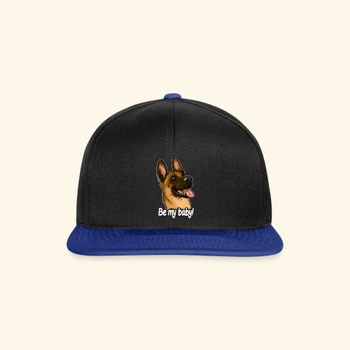 Be my baby berger malinois (texte blanc) - Casquette snapback