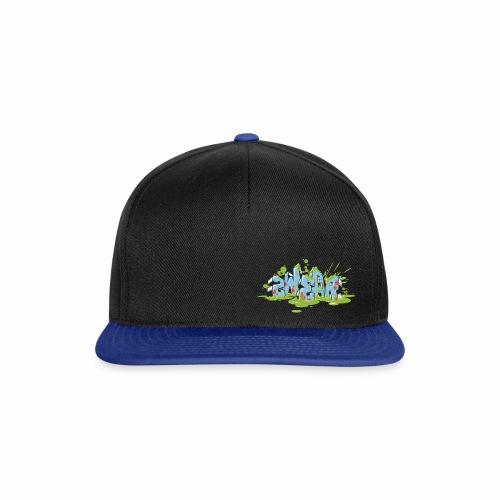 2wear Blue Block Splash - Wh logo - Snapback Cap