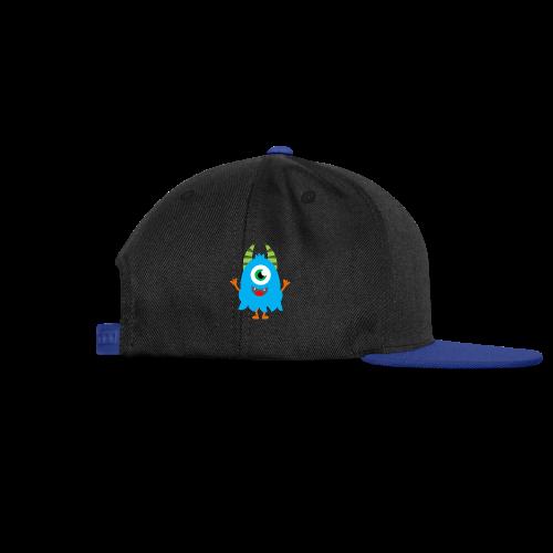 Lachendes Blaues Monster - Snapback Cap