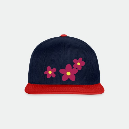 Three Flowers - Snapback Cap
