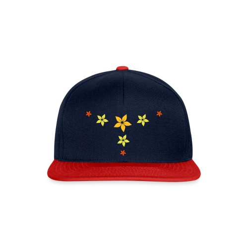 flower, star - Snapback Cap