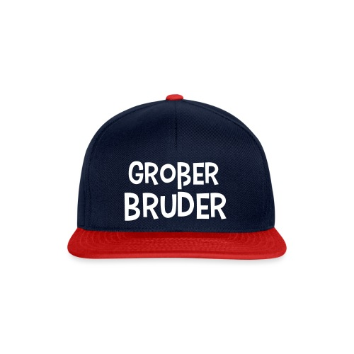 Großer Bruder Schriftzug - Snapback Cap