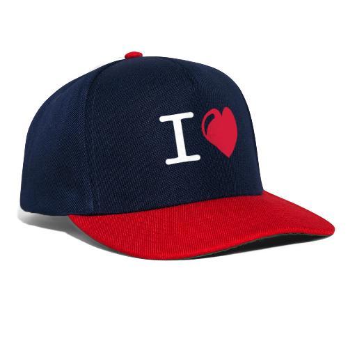 i love heart - Snapback cap