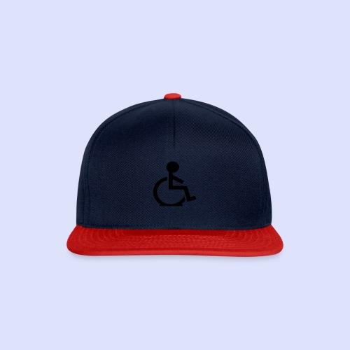 Rolstoel gebruiker met platte band - Snapback cap