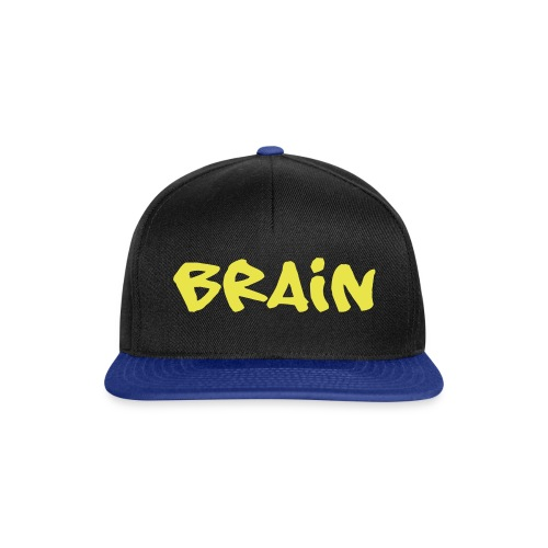 brain schriftzug - Snapback Cap