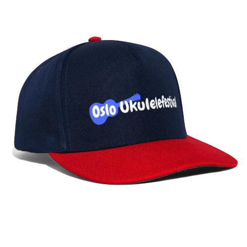 Oslo Ukulelefestival logo i hvitt og blått - Snapback-caps