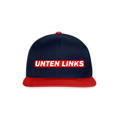 Unten Links rotes Design - Snapback Cap