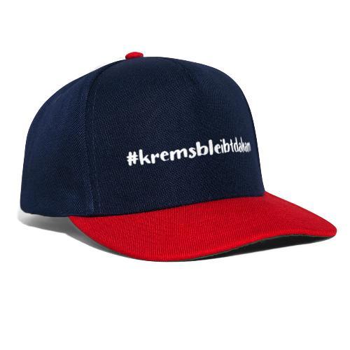 hashtag kremsbleibtdaham white - Snapback Cap