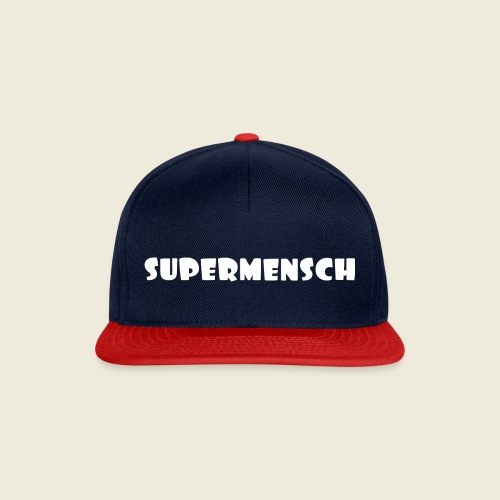 Supermensch in weiß 2 - Snapback Cap