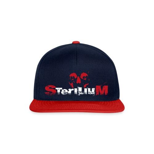 SteriliumLogo weiß-rot - Snapback Cap