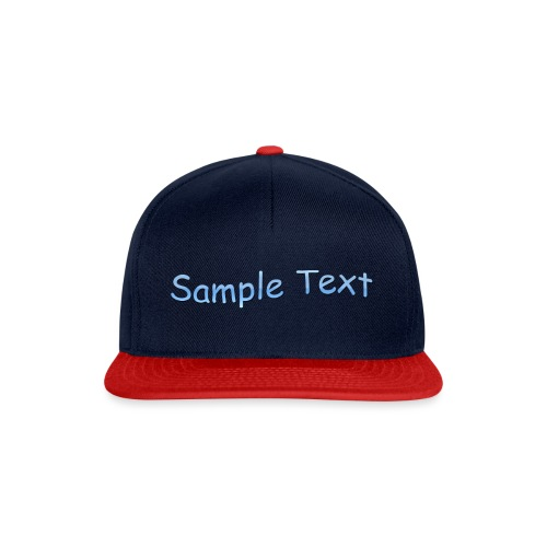SAMPLE TEXT CAP - Snapback Cap