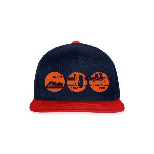 swim bike run Triathlon Sport - Snapback Cap