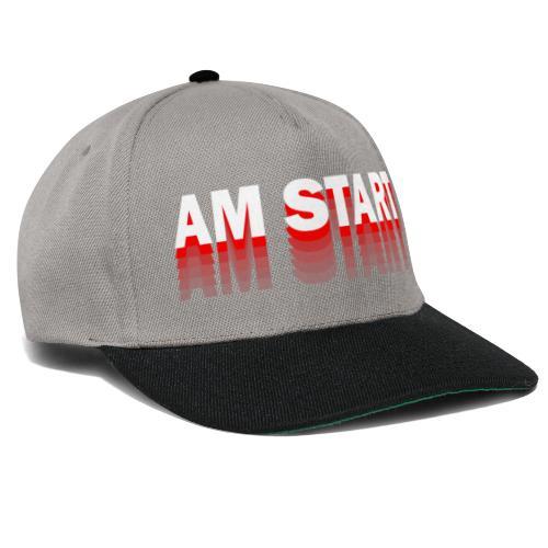 am Start - rot weiß faded - Snapback Cap