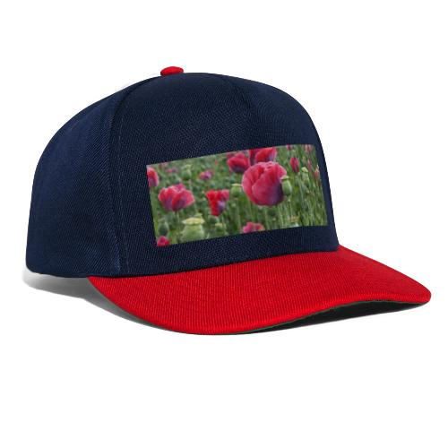 Blühendes Mohnfeld - Snapback Cap