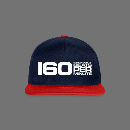 160 BPM (hvid lang) - Snapback Cap