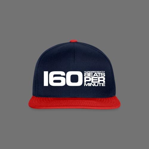 160 BPM (valkoinen pitkä) - Snapback Cap