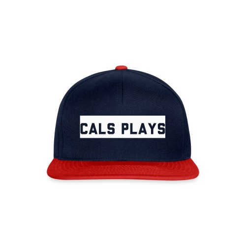 Cals Plays Text White - Snapback Cap