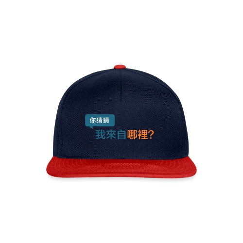 Guess Where I Am From? / 你猜猜我來自哪裡? - Snapback cap