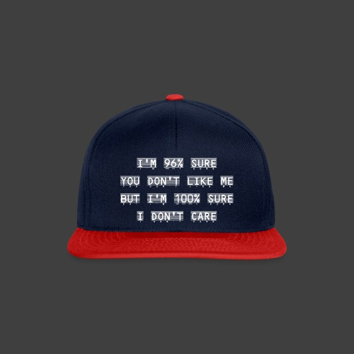 96% - Snapback Cap