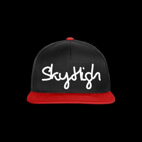 SkyHigh - Men's Premium Hoodie - White Lettering - Snapback Cap