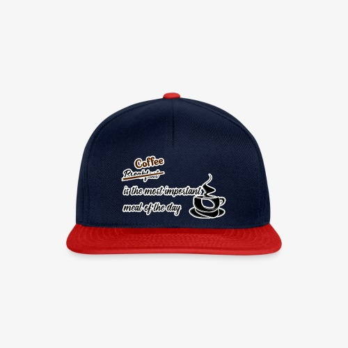 Coffee Important Meal - Snapback Cap