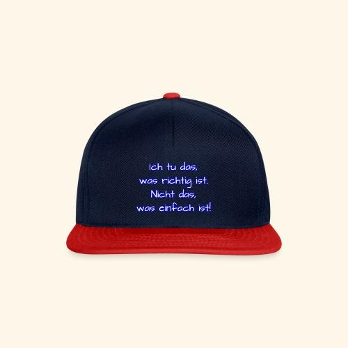 richtig nicht einfach - Snapback Cap