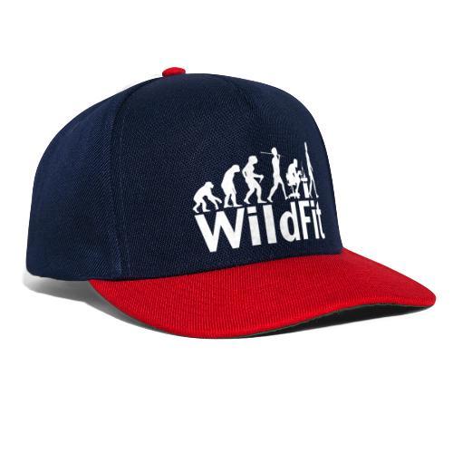 WildFit Logo Evolution Weiß - Snapback Cap