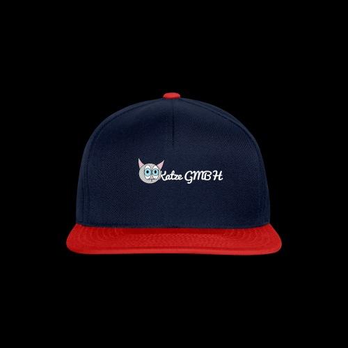 Katze GMBH Logo mit Schriftzug (Weiss auf dunkel) - Snapback Cap