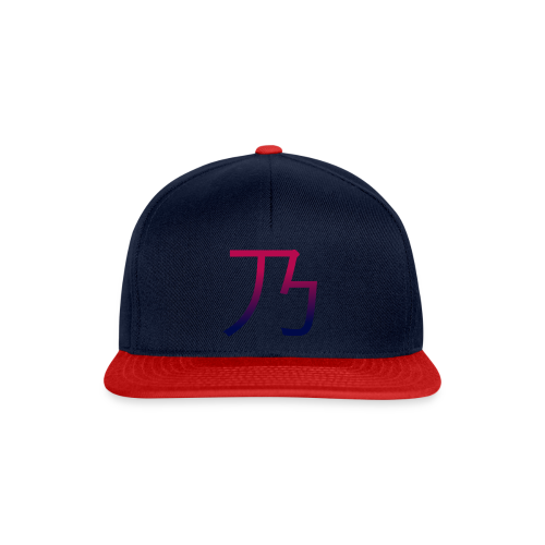 Red & blue B dark - Snapback Cap