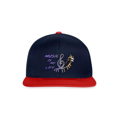 Music is my life - Dames Shirt - Snapback cap