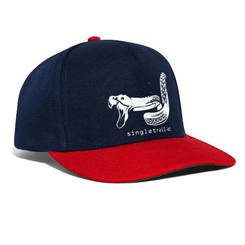 Single Trail Snake in Weiss - Snapback Cap