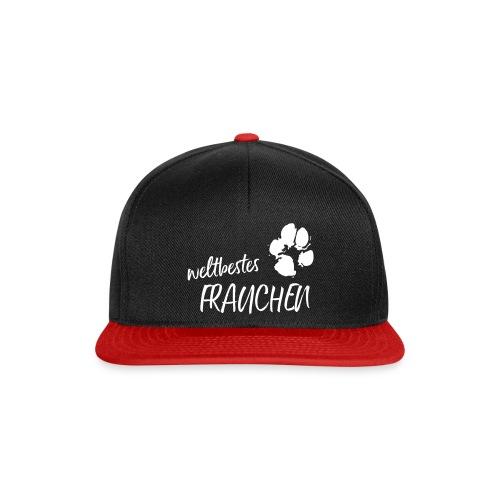 Vorschau: weltbestes Frauchen Pfote Hund - Snapback Cap