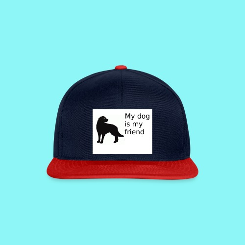 T-Shirt damski My dog is my friend - Czapka typu snapback