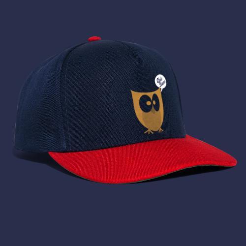 Eule mit weiß/blauen Logo - Snapback Cap