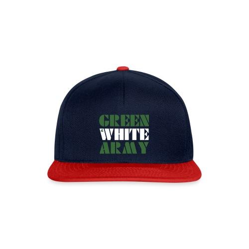 GREEN & WHITE ARMY _STENCIL_3 - Snapback Cap