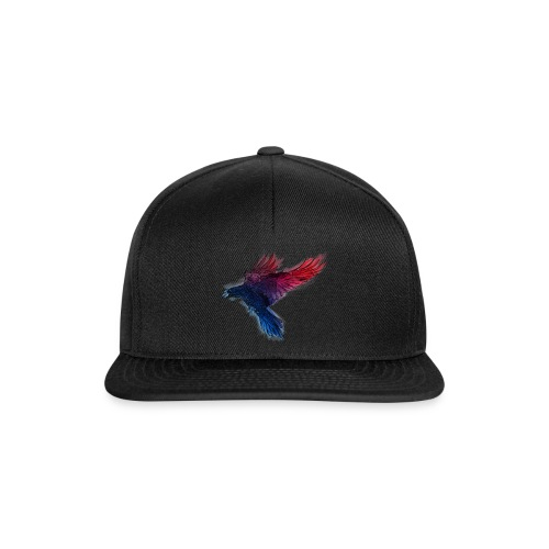 Watercolor Raven - Snapback Cap