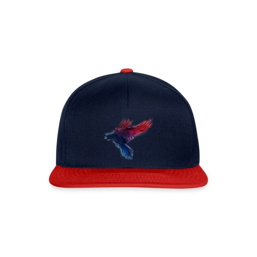 Watercolor Raven - Snapback Cap