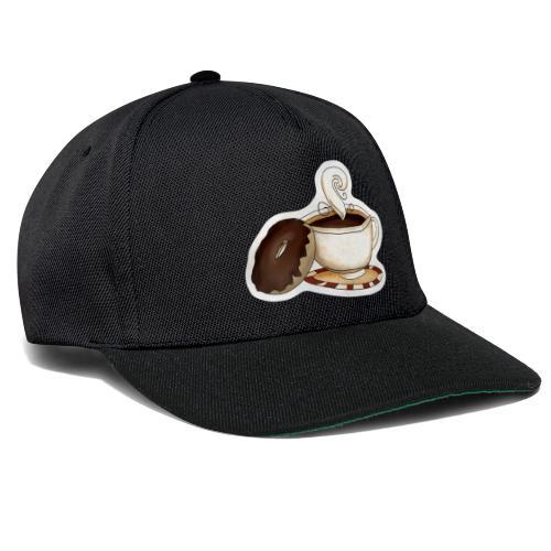 Kaffee und Donut - Snapback Cap