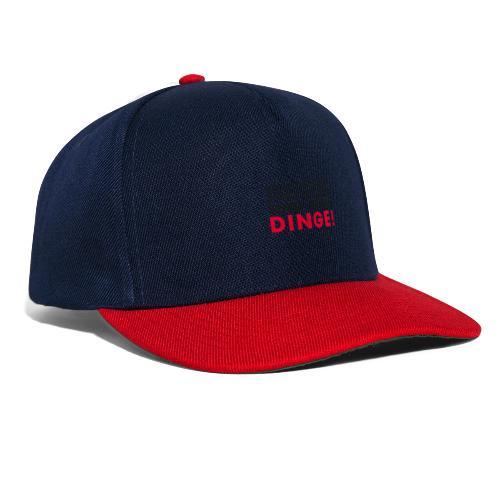 Motiv DINGE schwarze Schrift - Snapback Cap