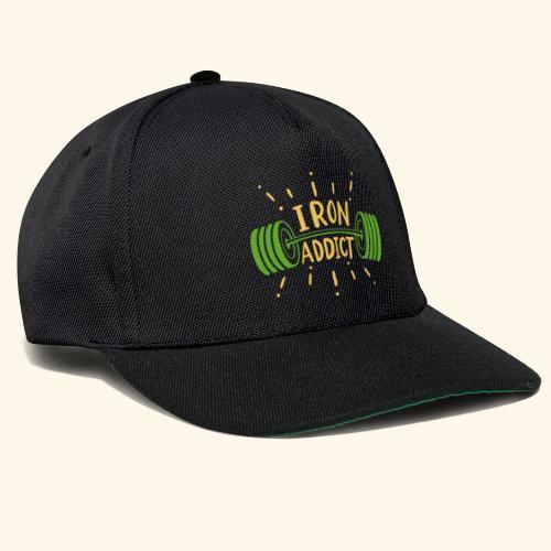 Langhantel Iron Addict Gym Shirt - Snapback Cap