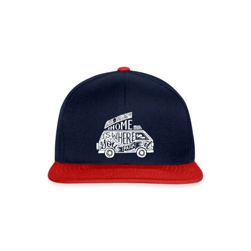 VAN - Home is where you park it - Snapback Cap